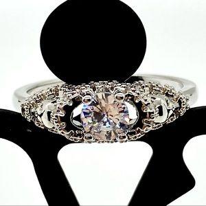 NEW! Gorgeous Round CZ Ring. Glamour & Fun!